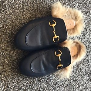Gucci Shoes - Royal blue Gucci slippers